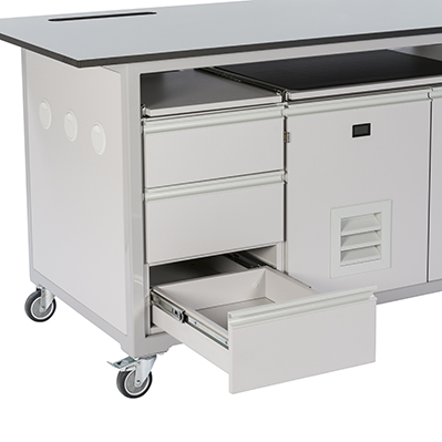 Drawer Options for mobile laboratory benches