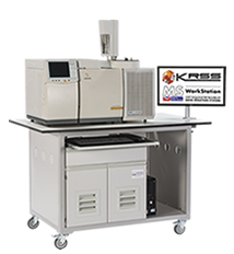 Mobile laboratory bench for GC instruments options