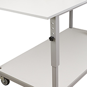 Manual Height Adjustment for mobile laboratory benches