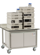 Mobile laboratory bench for LC liquid chromatography instruments options