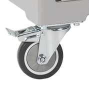 Lockable Casters for mobile laboratory benches