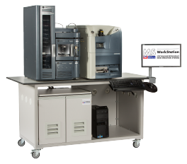 Mobile laboratory bench for MS Mass Spec instruments options