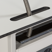 Pipework Access for mobile laboratory benches